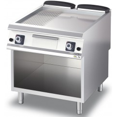 Fry-Top cromat neted/striat, alimentare gaz, linia Diamante 90